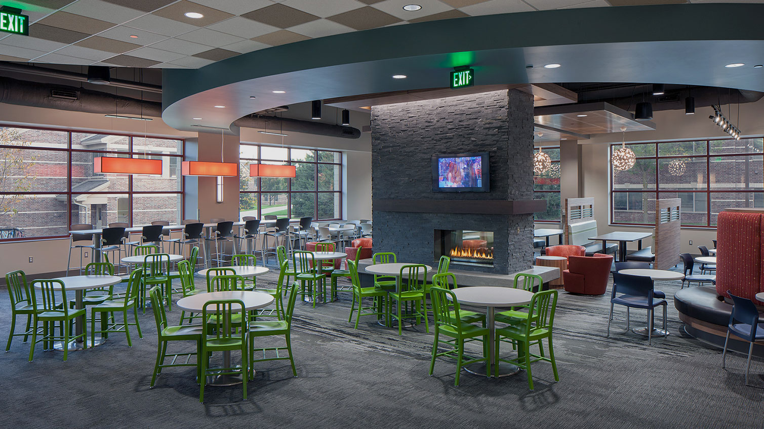 Inside the Grand Valley State University Dining Commons